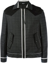 Lanvin collared jacket - men - Suede/Wool - 46