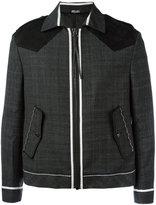 Lanvin collared jacket - men - Wool/Suede - 46
