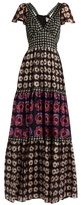 Temperley London Clarion-print silk crepe de Chine maxi dress