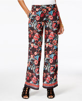 BCX Juniors' Printed Wide-Leg Soft Pants
