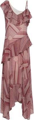 Rebecca Minkoff Ruffled Printed Crepe Midi Dress