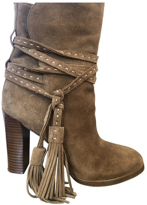 Michael Kors Beige Suede Ankle boots