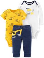 Carter's Baby Boys 3-Pc. Construction Bodysuits & Pants Set
