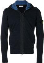Stone Island contrast colour zip hoodie