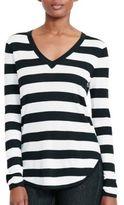 Lauren Ralph Lauren Long-Sleeved Striped Knit Top