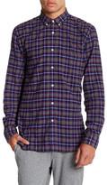 Barney Cools Cabin Plaid Long Sleeve Trim Fit Shirt