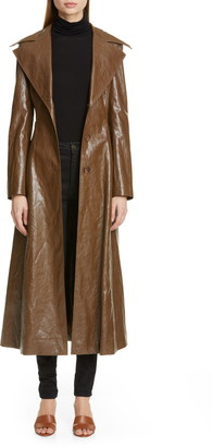REJINA PYO Rhea Faux Leather Trench Coat