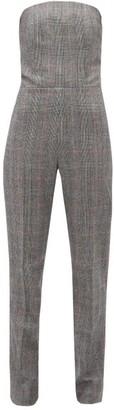 Pallas Paris - Fatale Glen-checked Tailored Wool Jumpsuit - Grey Multi