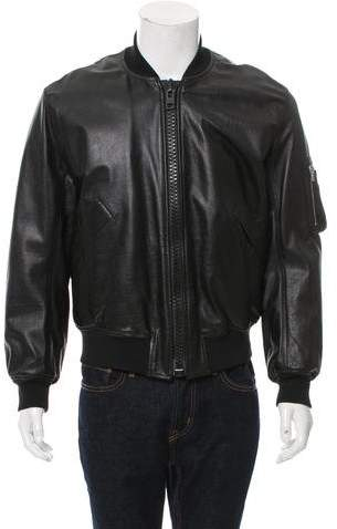 Givenchy Leather Bomber Jacket w/ Tags