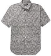 Alexander McQueen Brad Pitt Button-down Collar Printed Cotton-poplin Shirt - Gray