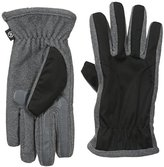 Isotoner Men's Smartouch Thermaflex Soft-Shell Gloves with Topstitching