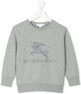 Burberry embroidered logo sweatshirt - kids - Cotton - 4 yrs