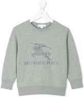 Burberry embroidered logo sweatshirt