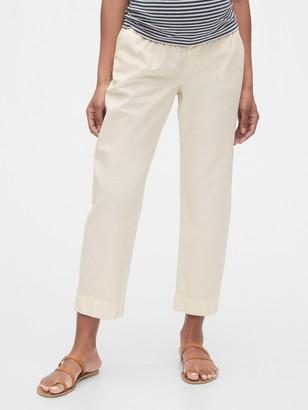 Gap Maternity Straight Crop Pants