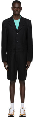 we11done Black Felted Tailored Jumpsuit