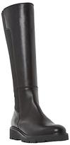 Dune Tula Flatform Knee High Boots, Black