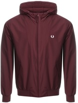 Fred Perry Hooded Brentham Jacket Burgundy