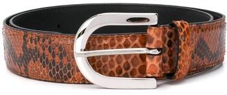 Orciani Snake Effect Buckle Belt