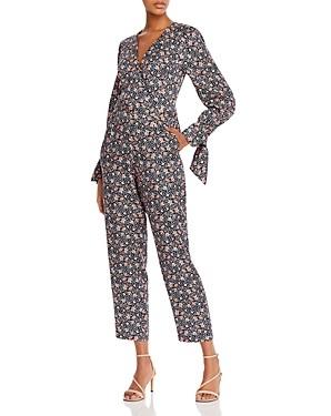 Rebecca Taylor Twilight Floral Print Jumpsuit