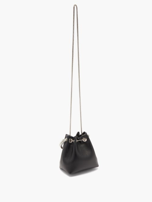 Thumbnail for your product : Jimmy Choo Bon Bon Crystal-embellished Leather Clutch Bag - Black Multi