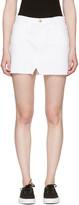 Frame White Denim le Mini Split Front Miniskirt