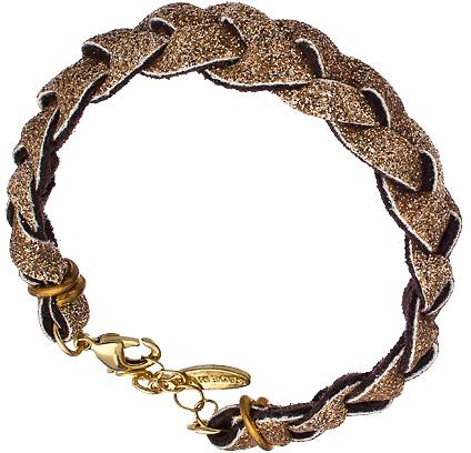 Ettika Braided Bronze Glitter Bracelet