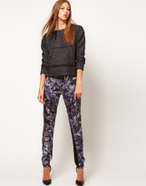 Silk Pants In Kaleidoscope Print