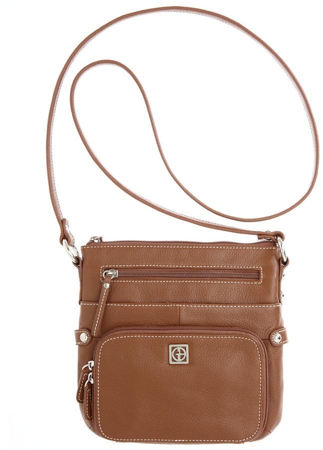Bernini Giani Handbag, Pebble Leather Crossbody Bag, Small