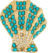 Kenneth Jay Lane Seashell Brooch