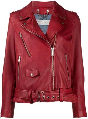 Golden Goose Red Classic Biker Jacket