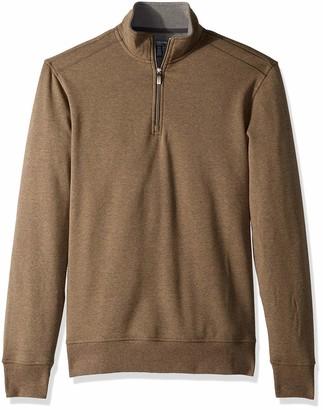 Van Heusen Men's Big and Tall Flex Fleece Long Sleeve Quarter Zip