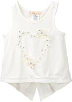 Baby Sara Embellished Striped Heart Tank Top (Toddler & Little Girls)