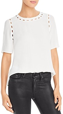 Daniel Rainn Embroidered Cutout Detail Top