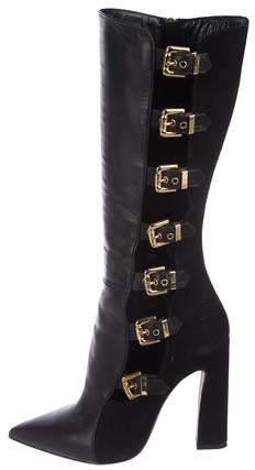 Chiara Ferragni Leather Mid-Calf Boots