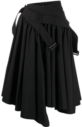 Junya Watanabe Comme Des Garçons Pre Owned Buckle Detail Flared Skirt