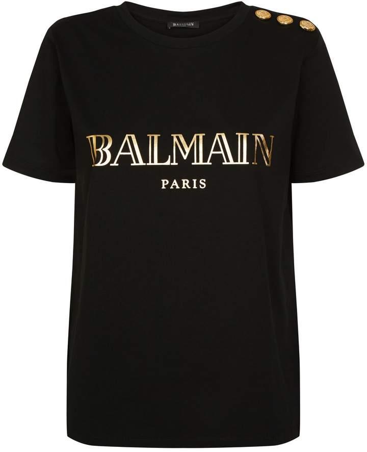 Balmain Button Logo T-Shirt