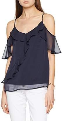 Vero Moda Women's Vmkenzie Cold Shoulder Top Vest, Blue Night Sky, 14 (Size: Large)