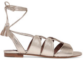 Tabitha Simmons Cruz Lace-up Metallic Leather Sandals - Gold