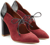 Malone Souliers Suede Pumps with Lace-Up Front