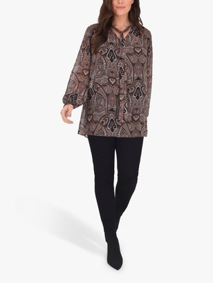 Live Unlimited Paisley Blouse, Brown/Multi