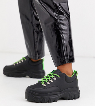 Truffle Collection wide fit chunky sneakers in black