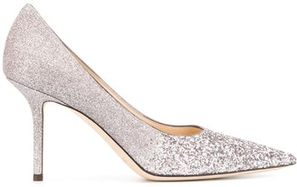 Jimmy Choo Love 85mm glitter-embellished pumps