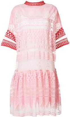 Philosophy di Lorenzo Serafini embroidered mesh dress