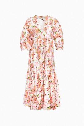By Ti Mo Floral Print Cherish Midi Dress