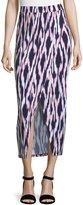 MICHAEL Michael Kors Faux-Wrap Maxi Skirt, Lily Pink
