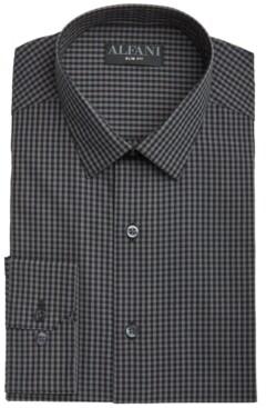 Alfani Men's Slim-Fit Gingham Check Dress Shirt, Created for Macy's