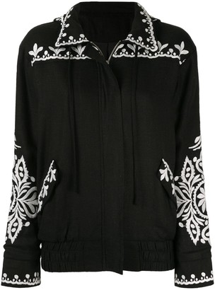 We Are Kindred Positano embroidered bomber jacket