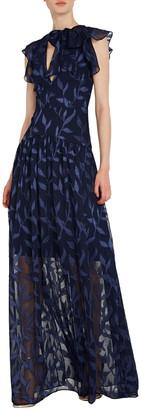 ML Monique Lhuillier Puffer Sleeve Gown