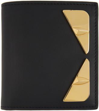 Fendi Black and Gold Bag Bugs Wallet