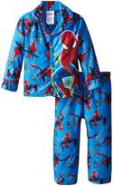 Marvel Little Boys' Spiderman Webs Coat Pajama Set ,Multi